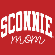 Load image into Gallery viewer, Sconnie Mom Script Womens T-Shirt - Red