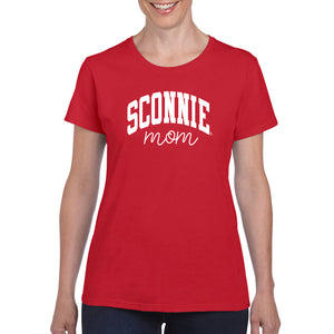 Sconnie Mom Script Womens T-Shirt - Red