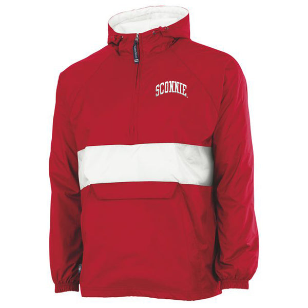Sconnie Charles River Pullover - Red/White