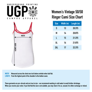 Sconnie Womens Ringer Cami Tank - White/Red