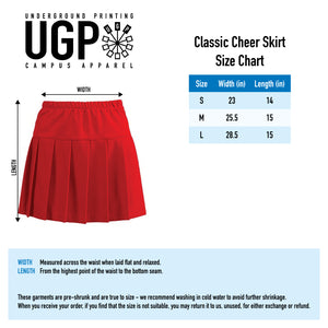 Sconnie Classic Cheer Skirt - Red/White