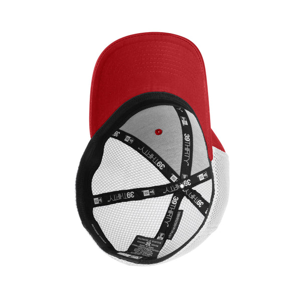 Sconnie Arch New Era Youth Hat 39 Thirty - Scarlet / White