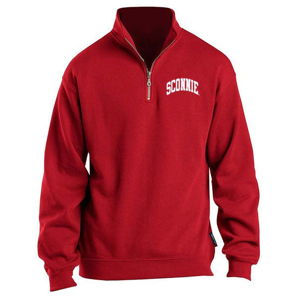 Sconnie Quarter-Zip Pullover - Red