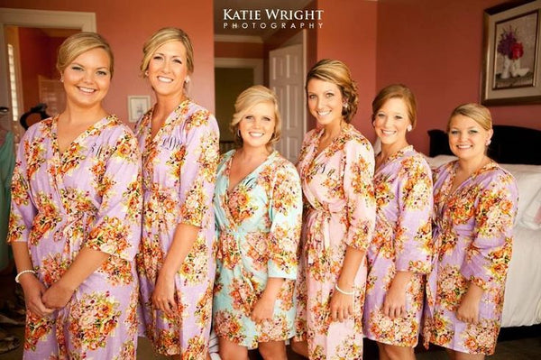 Lilac Bridesmaids Robes|C series Collage|BRIGHT ROBES|PASTEL ROBES|SHALIMAR ROBES