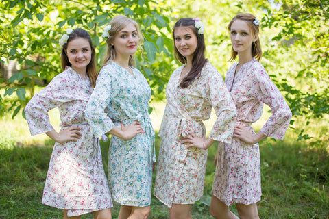 Mismatched Bridesmaids Robes