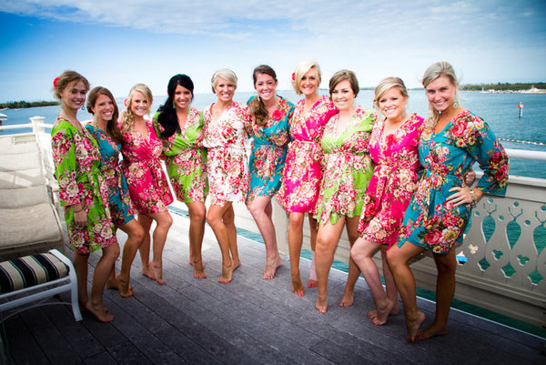 Mix Matched Bridesmaids Robes|REGULAR FABRICS2|A SERIES FABRICS|A SERIES ROBES|A SERIES|A SERIES2