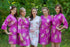 Faded Flowers Pattern Bridesmaids Robes|Orchid Faded Flowers Pattern Bridesmaids Robes|Faded Flowers