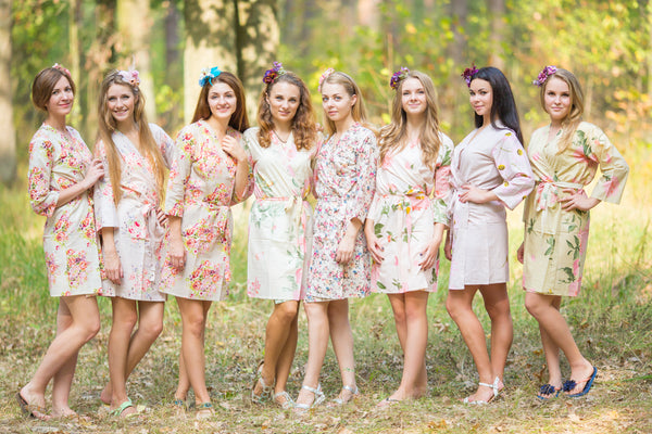 Nude Wedding Colors Bridesmaids Robes