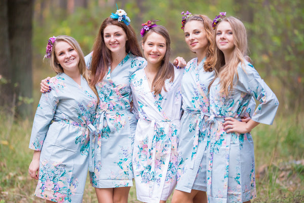 Gray Blooming Flowers Pattern Bridesmaids Robes|îÆ'Æ£‡†‰ é´Ï£† ë´†¢®≠·™†Ô 2015.09.18        - 247|îÆ'Æ£‡†‰ é´Ï£† ë´†¢®≠·™†Ô 2015.09.18        - 245|Blooming Flowers Pattern Bridesmaids Robes
