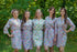 Happy Flowers Pattern Bridesmaids Robes|Lilac Happy Flowers Pattern Bridesmaids Robes|Happy Flowers