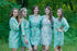Happy Flowers Pattern Bridesmaids Robes|Mint Happy Flowers Pattern Bridesmaids Robes|Happy Flowers