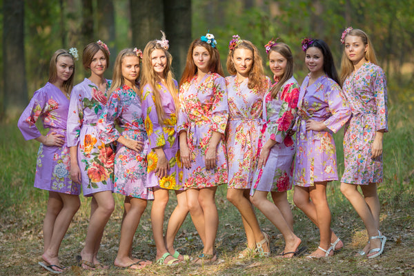 Assorted Lilacs Bridesmaids Robes
