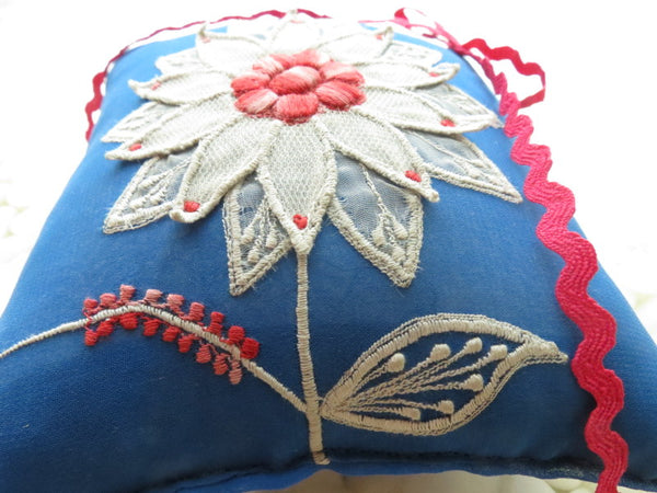 One of a kind embroidered Ring Bearer Pillow