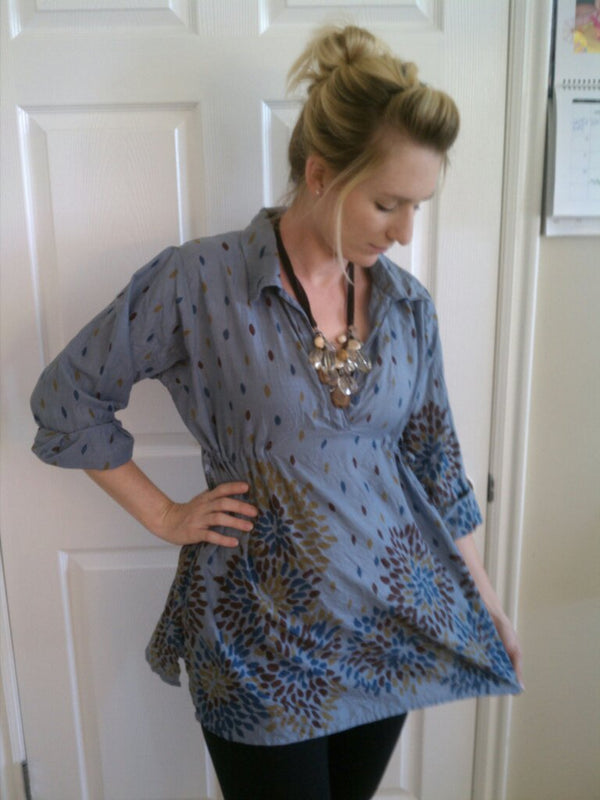 Gray Maternity Tunic