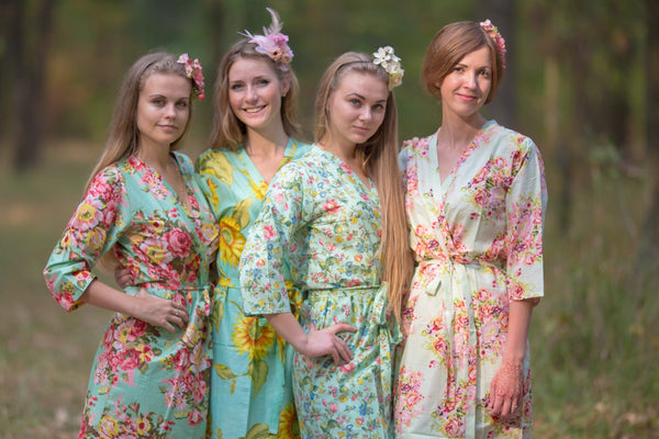 Assorted Mints Bridesmaids Robes