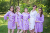 Lilac Falling Daisies Pattern Bridesmaids Robes