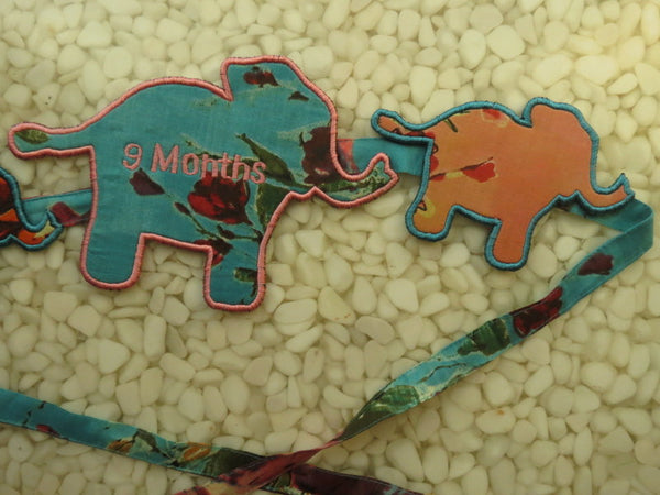 9 Months Cute Elephants Maternity Sash