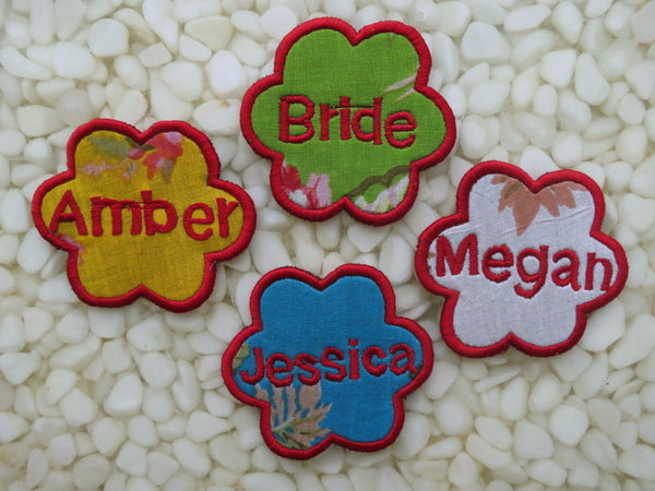 Baby Name Floral Emblems - Personalized Hangers