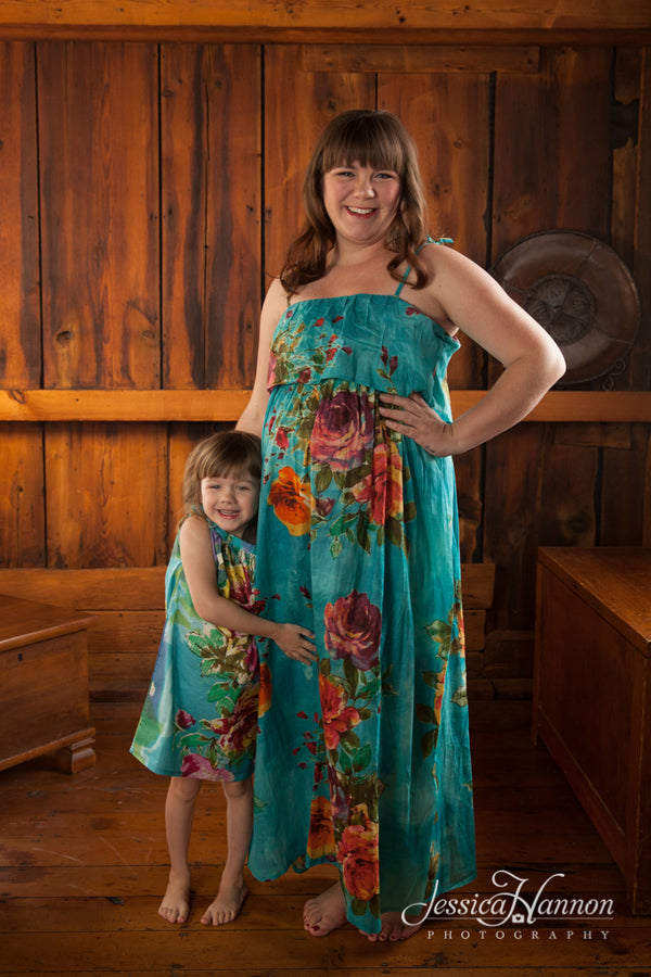 Mommy Baby Matching Maxi Dresses