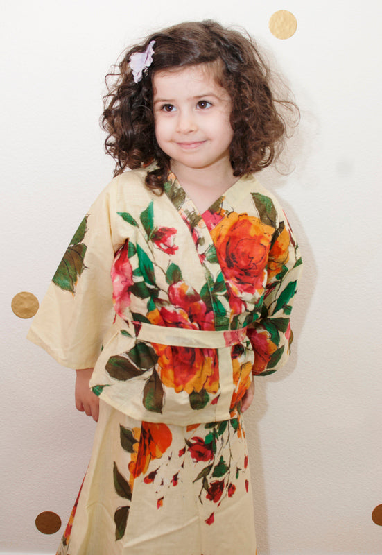 Mommy Daughter Matching Dress 2 Piece Set Skirt and a kimono Top