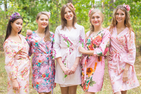 Assorted Pink Bridesmaids Robes