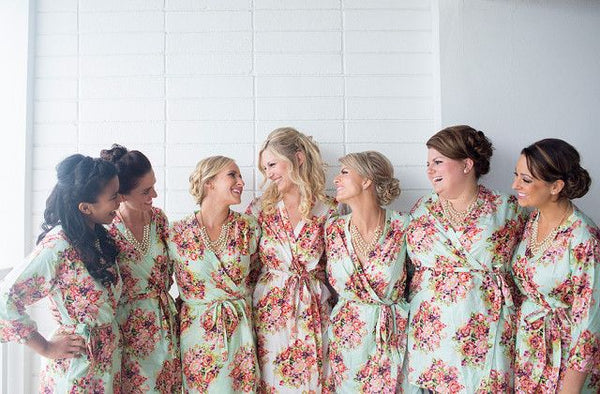 Mint Bridesmaids Robes|C series Collage|BRIGHT ROBES|PASTEL ROBES|SHALIMAR ROBES