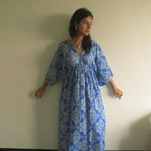 Empire Waist Dress Butterfly Sleeves Maternity Kaftan
