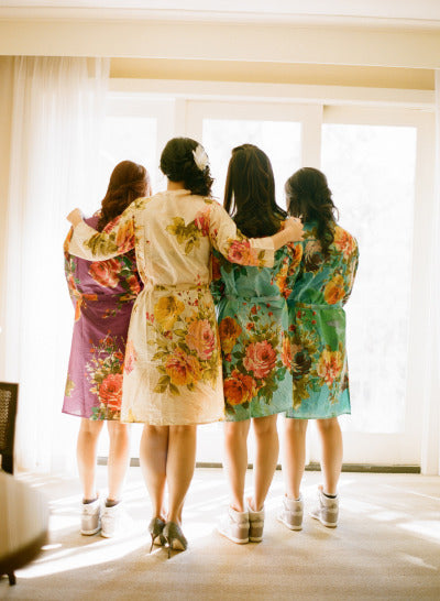 Mix Matched Bridesmaids Robes|C series Collage|BIG FLOWER ROBES|BIG FLOWER ROBES2|BIG FLOWER2