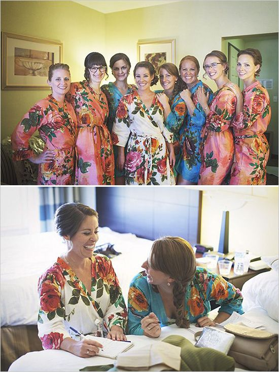Mix Matched Bridesmaids Robes|D SERIES|D SERIES 2|BIG FLOWER ROBES2|BIG FLOWER ROBES|BIG FLOWER2