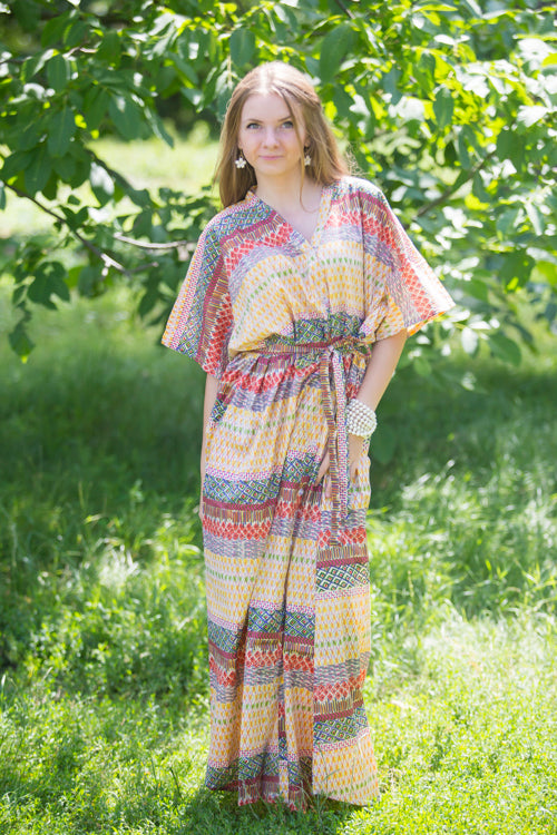 Yellow Best of both the worlds Style Caftan in Abstract Geometric Pattern|Yellow Best of both the worlds Style Caftan in Abstract Geometric Pattern|Yellow Best of both the worlds Style Caftan in Abstract Geometric Pattern