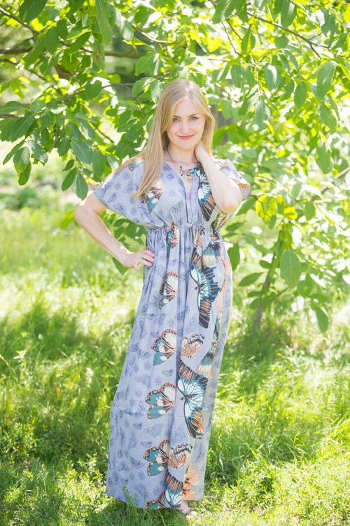 Gray Beach Days Style Caftan in Butterfly Baby|Gray Beach Days Style Caftan in Butterfly Baby|Butterfly Baby