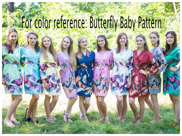 Gray Cut Out Cute Style Caftan in Butterfly Baby Pattern