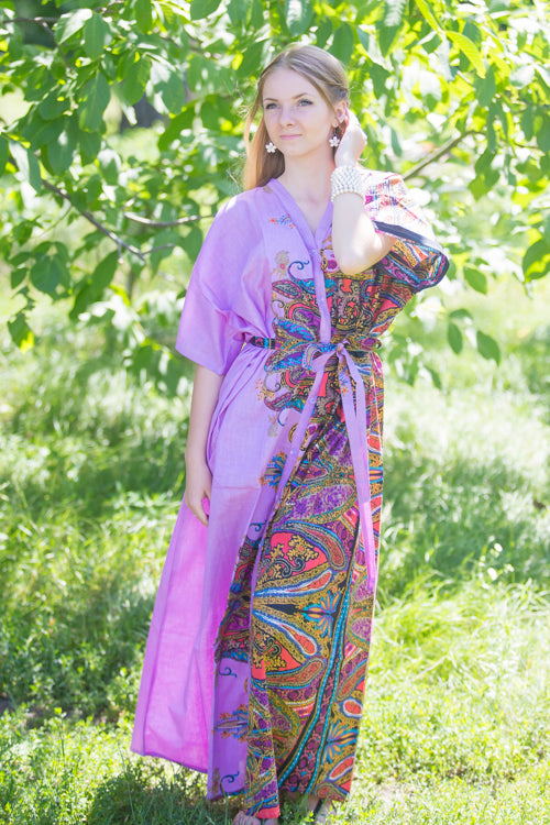 Lilac Best of both the worlds Style Caftan in Cheerful Paisleys Pattern|Lilac Best of both the worlds Style Caftan in Cheerful Paisleys Pattern|Cheerful Paisleys