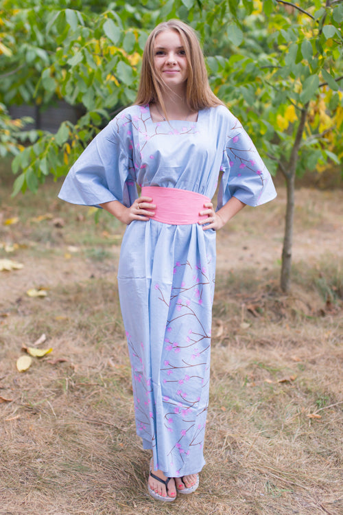 Gray Beauty, Belt and Beyond Style Caftan in Cherry Blossoms