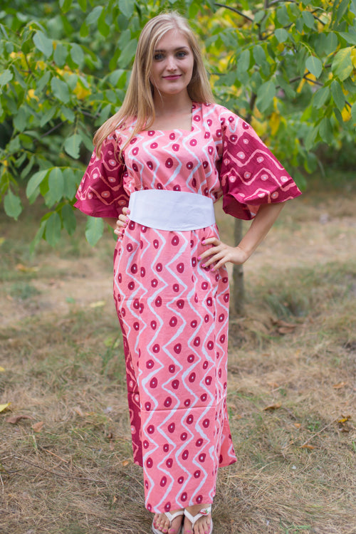 Coral Beauty, Belt and Beyond Style Caftan in Chevron Dots