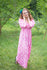 Pink Button Me Down Style Caftan in Chevron Pattern|Pink Button Me Down Style Caftan in Chevron Pattern|Chevron