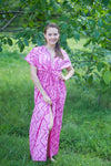 Pink Beach Days Style Caftan in Chevron