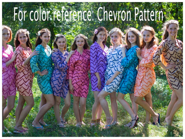 Gray Cool Summer Style Caftan in Chevron Pattern