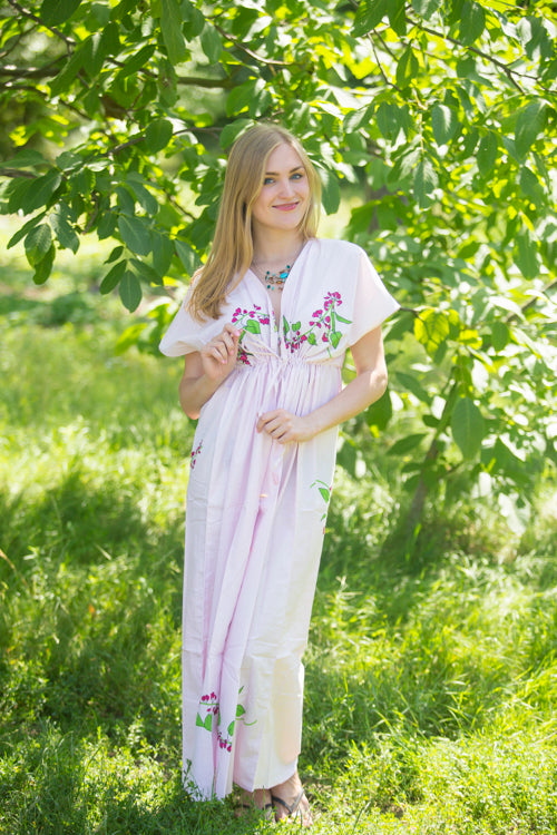 Pink Beach Days Style Caftan in Climbing Vines|Pink Beach Days Style Caftan in Climbing Vines|Climbing Vines