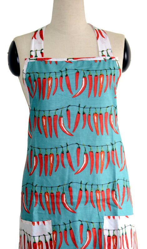 Teal Chillies Full Apron