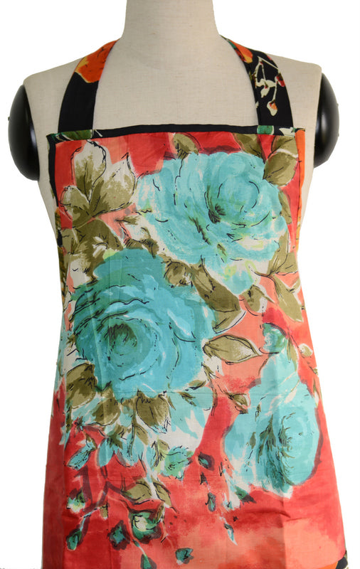 Red Floral Full Apron