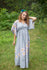 Gray I Wanna Fly Style Caftan in Falling Daisies Pattern|Gray I Wanna Fly Style Caftan in Falling Daisies Pattern|Falling Daisies