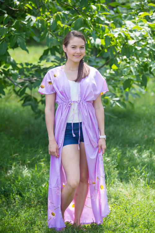 Lilac Beach Days Style Caftan in Falling Daisies