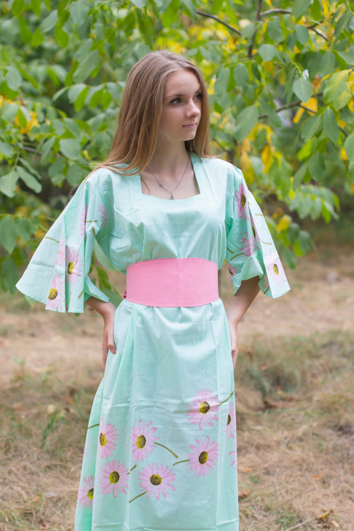 Mint Beauty, Belt and Beyond Style Caftan in Falling Daisies|Mint Beauty, Belt and Beyond Style Caftan in Falling Daisies|Falling Daisies