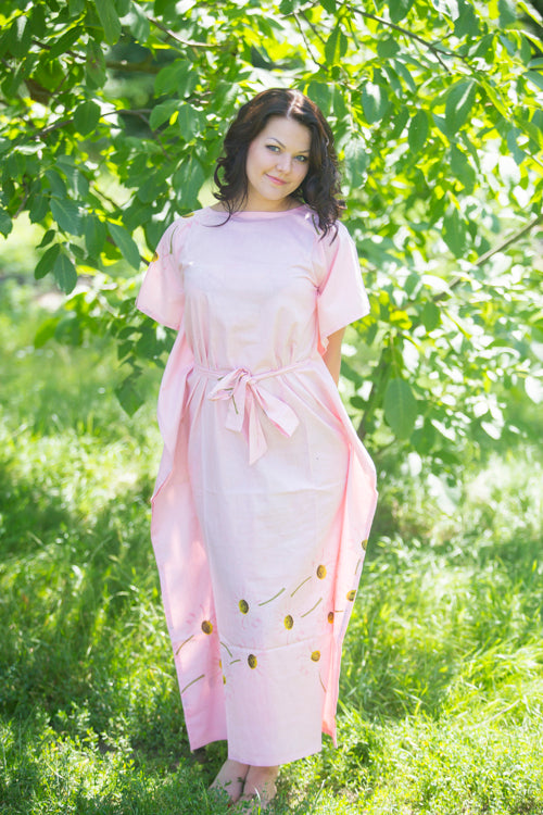 Pink Divinely Simple Style Caftan in Falling Daisies Pattern|Pink Divinely Simple Style Caftan in Falling Daisies Pattern|Falling Daisies