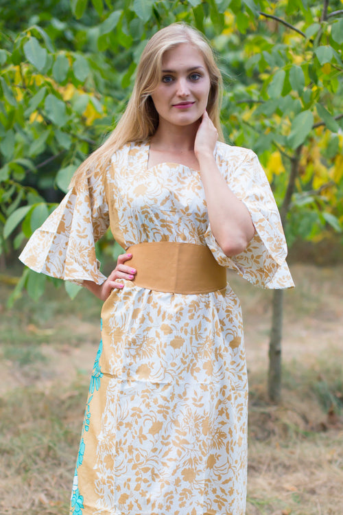 Peach Beauty, Belt and Beyond Style Caftan in Falling Leaves|Peach Beauty, Belt and Beyond Style Caftan in Falling Leaves|Falling Leaves