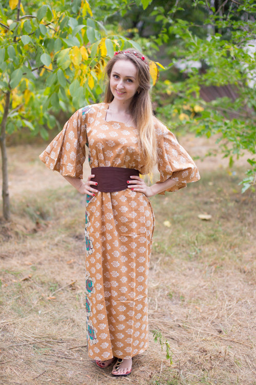 Fawn Beauty, Belt and Beyond Style Caftan in Floral Bordered