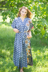 Gray Best of both the worlds Style Caftan in Floral Bordered Pattern