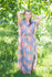 Gray Divinely Simple Style Caftan in Floral Posy Pattern|Gray Divinely Simple Style Caftan in Floral Posy Pattern|Floral Posy