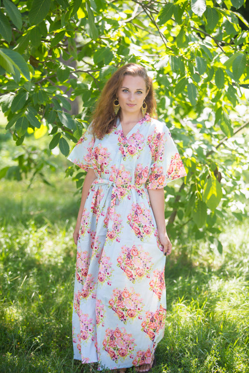Mint Best of both the worlds Style Caftan in Floral Posy Pattern